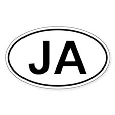 Ja - Jamaica Oval Decal