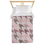 Houndstooth pink Twin Duvet