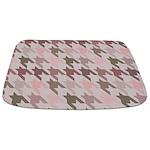 Houndstooth pink Bathmat