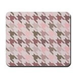 Houndstooth pink Mousepad