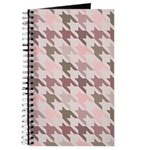 Houndstooth pink Journal