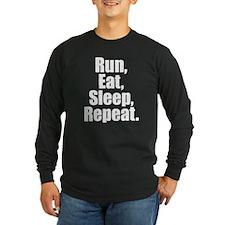 Run Eat Sleep Repeat Long Sleeve T-Shirt