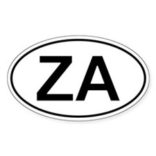 Za - South Africa Oval Car Decal