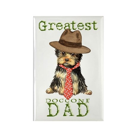 Yorkie Dad Rectangle Magnet