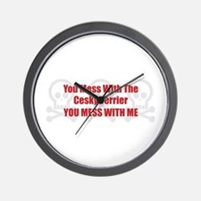 Mess With Cesky Wall Clock