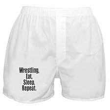 Wrestling Eat Sleep Repeat Boxer Shorts