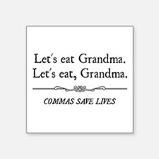 Let's Eat Grandma Commas Save Lives Sticker