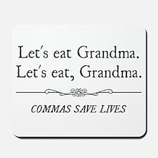 Let's Eat Grandma Commas Save Lives Mousepad