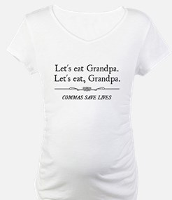 Let's Eat Grandpa Commas Save Lives Shirt