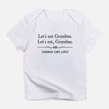 Let's Eat Grandma Commas Save Lives Infant T-Shirt