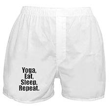 Yoga Eat Sleep Repeat Boxer Shorts