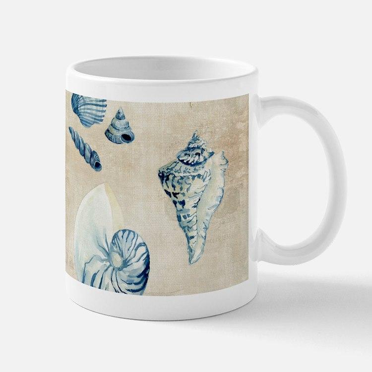Indigo Ocean Beach Sketchbook Watercolor Shells Mu