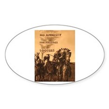 No Amnesty...for Paleface Loo Oval Decal