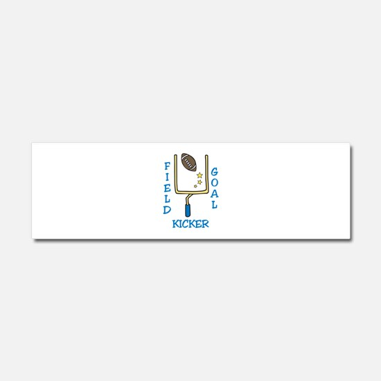 Field Goal Kicker Car Magnet 10 x 3