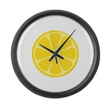 Cute Lemon Large Wall Clock