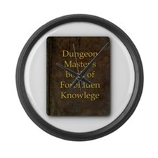 Dungeon Master's Bk Forbidden Kno Large Wall Clock