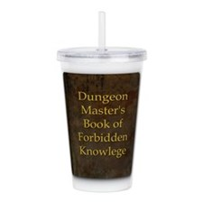 Dungeon Master's Bk Fo Acrylic Double-wall Tumbler