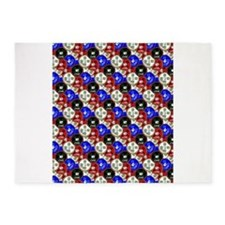 Casino Chips 5'x7'Area Rug