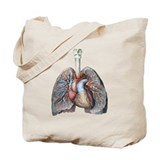 Heart and lungs Bags & Totes