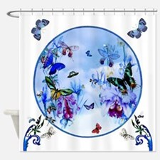 Butterfly Bee Dragonfly Medley Shower Curtain