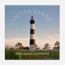 Bodie Island Lighthouse. Tile Coaster