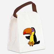 Cute Man Canvas Lunch Bag