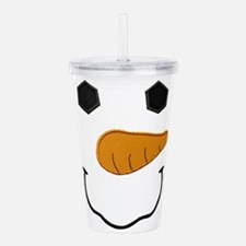 Cute Snowman face Acrylic Double-wall Tumbler