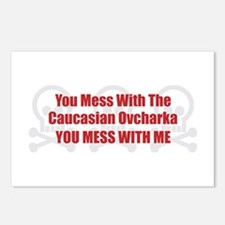 Mess With Caucasian Postcards (Package of 8)