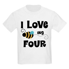 4th Birthday Bee T-Shirt