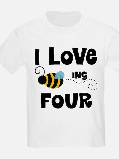 4th Birthday Bee T-Shirt