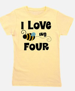 4th Birthday Bee Girl's Tee