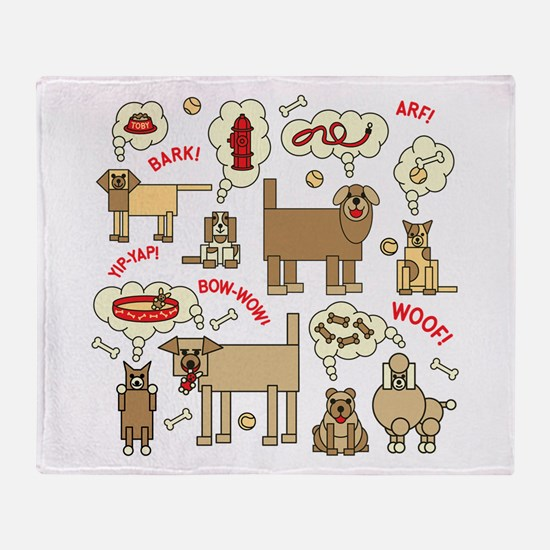 Cute Thought bubble Throw Blanket