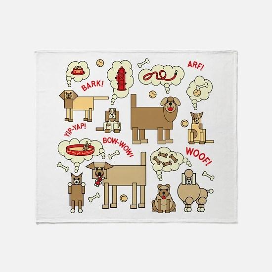 Cute Pets Throw Blanket