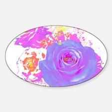 Wild Roses Sticker (Oval)