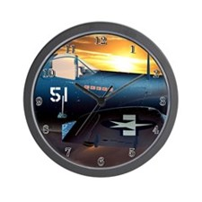 Black Sheep Squadron VMA-214 Wall Clock