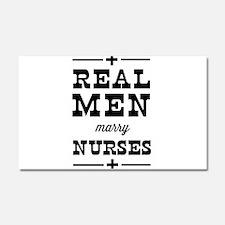Real men marry nurses Car Magnet 20 x 12