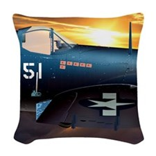 Black Sheep Squadron VMA-214 Woven Throw Pillow