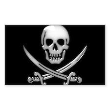 Glassy Skull and Cross Swords Decal
