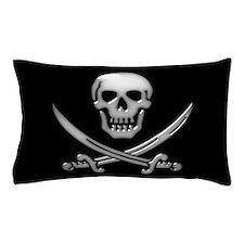 Glassy Skull and Cross Swords Pillow Case