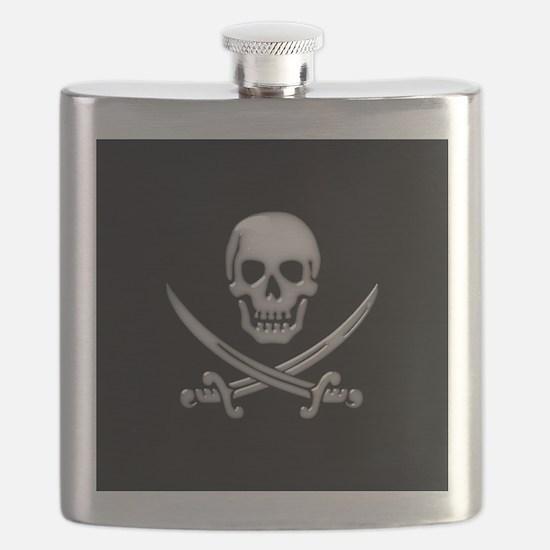 Glassy Skull and Cross Swords Flask