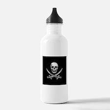Glassy Skull and Cross Swords Water Bottle