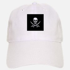 Glassy Skull and Cross Swords Baseball Baseball Baseball Cap
