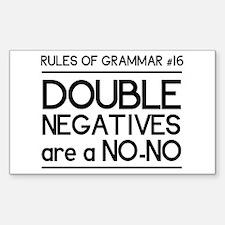 Rules of grammar dub neg Decal