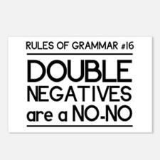 Rules of grammar dub neg Postcards (Package of 8)