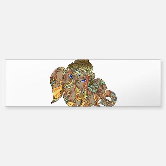 Ganesha Print Bumper Bumper Bumper Sticker