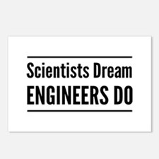 Scientists dream engineers do Postcards (Package o