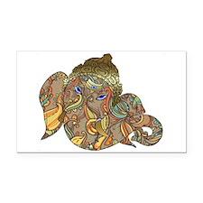 Ganesha Print Rectangle Car Magnet