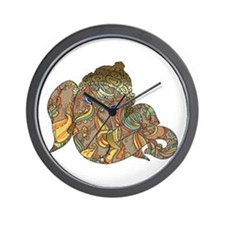 Ganesha Print Wall Clock