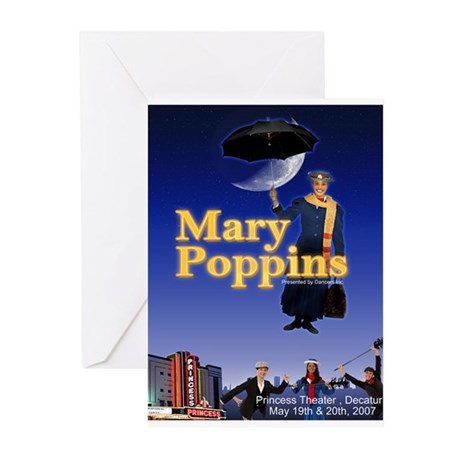 marypoppinsPoster copy Greeting Cards