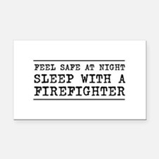 Sleep with a firefighter Rectangle Car Magnet
